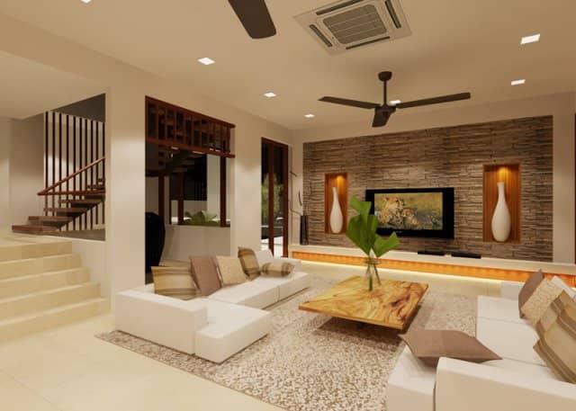 zen and calm living room interior design