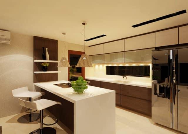 modern clean kitchen with kitchen island in florissa park home