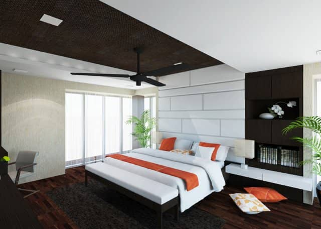 clean and simple bedroom interior at florissa park