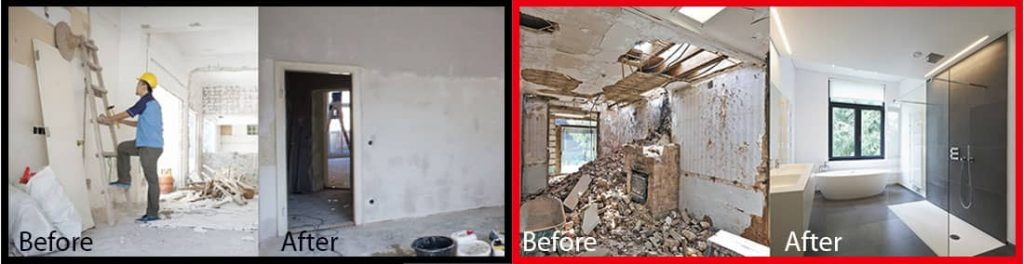 before and after photo of hacking works