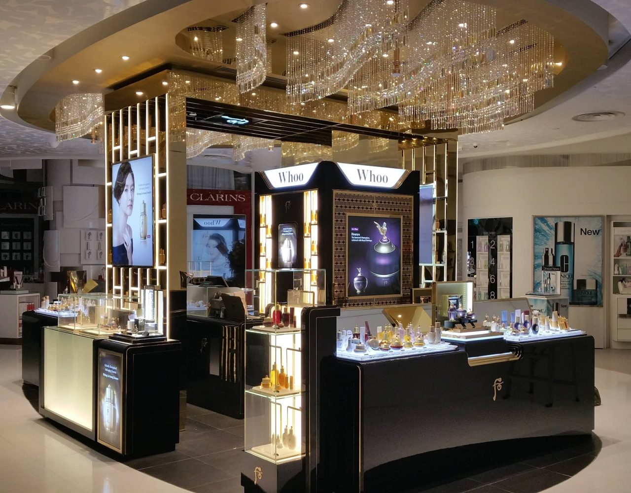 majestic and grand interior design for whoo retail store