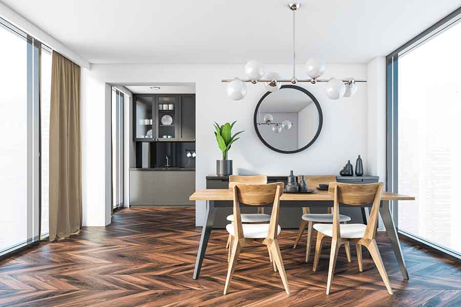 residential interior design dining area concept