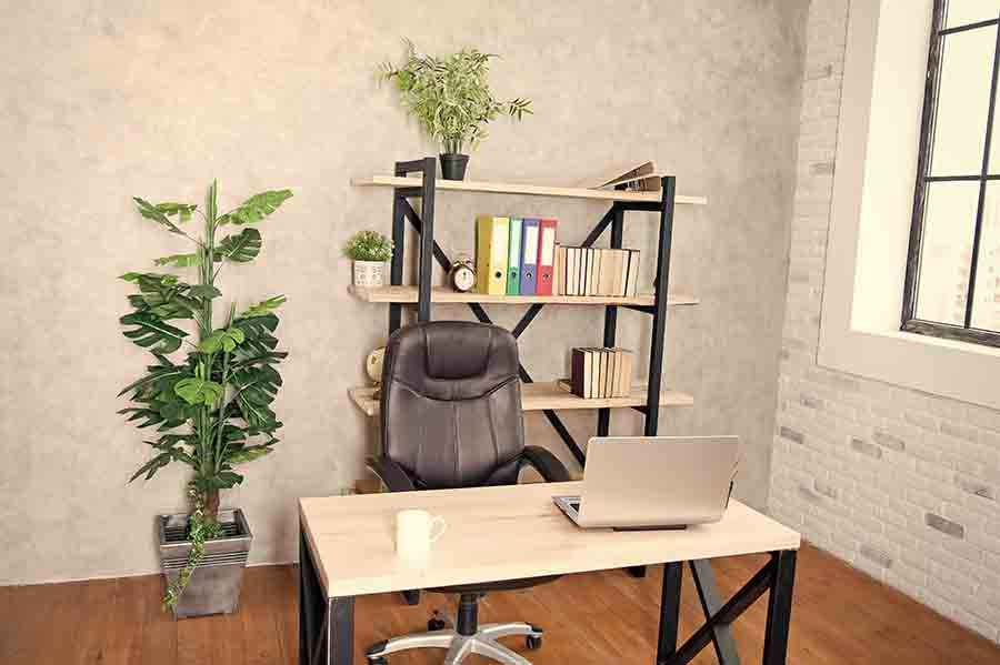 small office space filled with natural light
