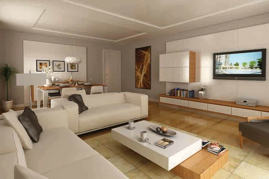 modern design of residential interior design