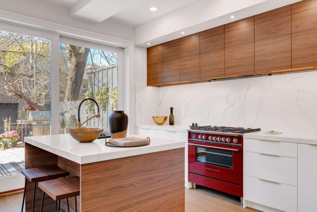 aesthetic kitchen with plumbing integration