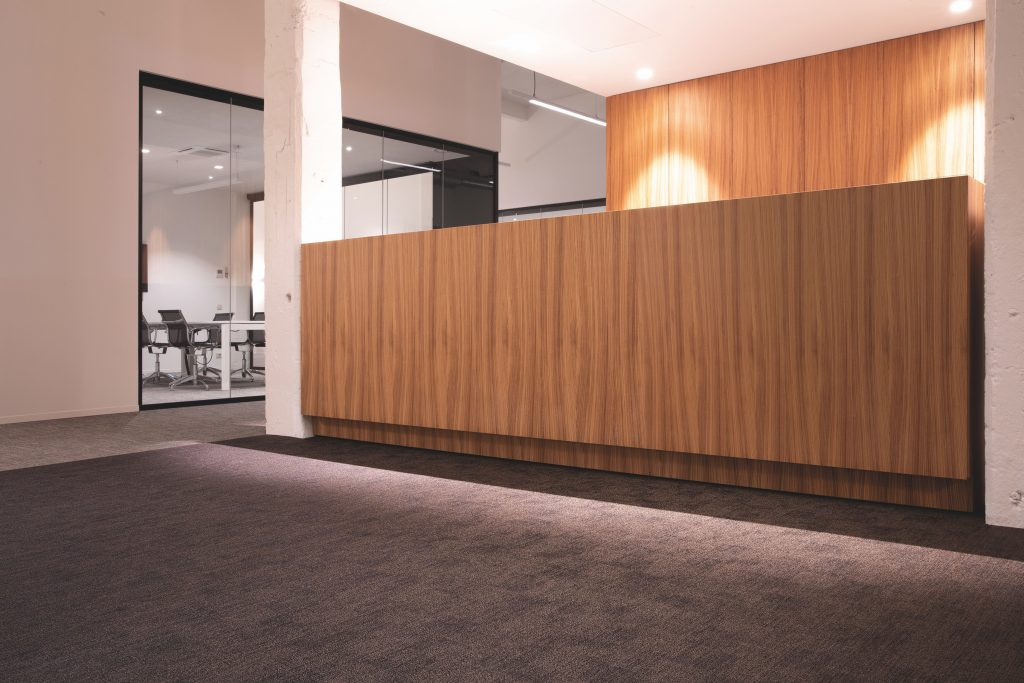 office reception welcome desk interior design