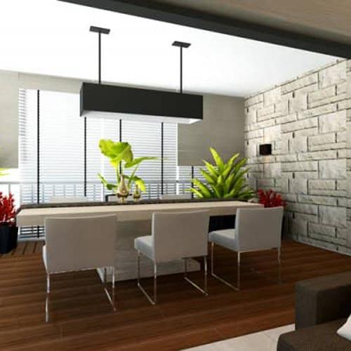 calming dining space interior design