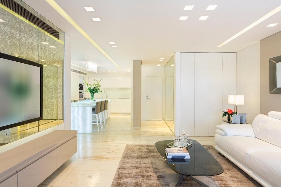 spacious luxurious modern design living room