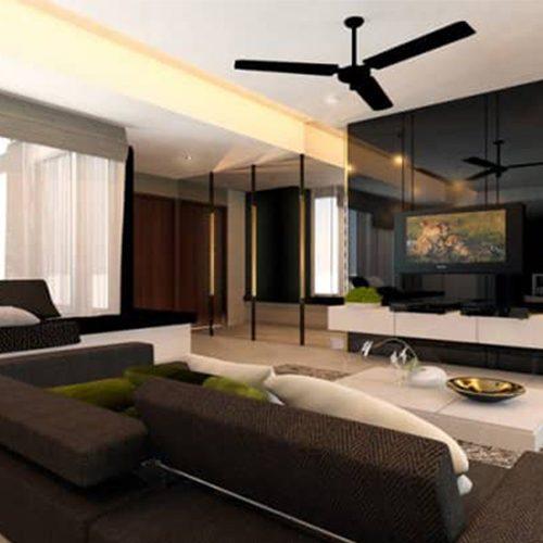 black and white themed home interior design